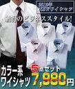 銀座・丸の内のOL100人が選ぶワイシャツ5枚セット(カラー系)(代引き不可)【ポイント10倍】