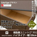 樹脂畳ユニット [ハイタイプ・幅120cm・ブラウン] (収納畳 畳ベンチ 畳ボックス 高床式ユニット畳 畳ベッド シングル) PPP(代引不可)【ポイント10...