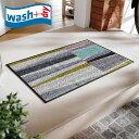 玄関マット wash+dry C024A Farsund 50×75cm 柄物 おしゃれ 滑り止めラバーつき(代引不可)【送料無料】