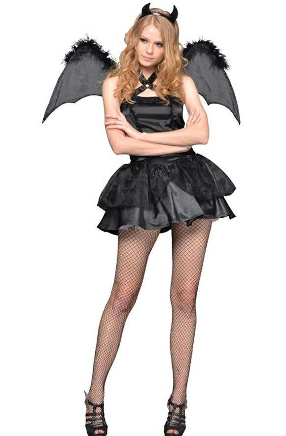 NYW_2102-10 ブラックデビル S コスプレ 衣装 ハロウィン レディース 悪魔(代引不可)【ポイント10倍】:リコメン堂