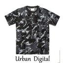 ショッピングデジタル カモフラージュTシャツ JT048YN アーバンデジタル Mサイズ