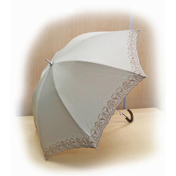 テイジン ナノフロント使用 遮熱パラソル(晴雨兼用傘) ベージュ 【ポイント10倍】帝人ナノフロント使用!遮熱パラソル(晴雨兼用傘)たのしい