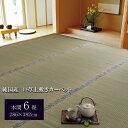 純国産 糸引織 い草上敷 『湯沢』 本間6畳(約286×382cm)