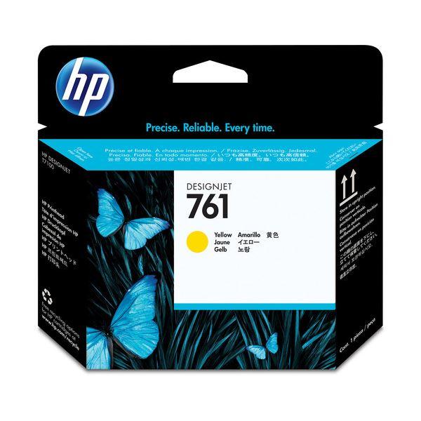 (まとめ) HP761 プリントヘッド イエロー CH645A 1個 【×3セット】【ポイント10倍】 インクカートリッジ プリントヘッドあまい