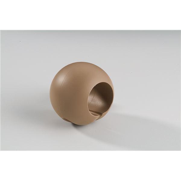 【10個セット】階段手すり滑り止め 『どこでもグリップ』ボール形 軟質樹脂 直径35mm ブラウン シロクマ 日本製【ポイント10倍】