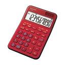 (まとめ) シャープ カラー・デザイン電卓 10桁ミニナイスサイズ レッド EL-M335-RX 1台 【×10セット】