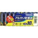 東芝 アルカリ単3電池10本パック LR6L10MP 東芝ライフスタイル【ポイント10倍】
