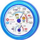 クレセル インフルエンザ・熱中症対策 温度計・湿度計 壁掛け・卓上両用 TR-103B ブルー【ポイント10倍】