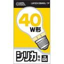 オーム電機 シリカ電球 40W形 口金E26 LW100V38W55/1P【ポイント10倍】