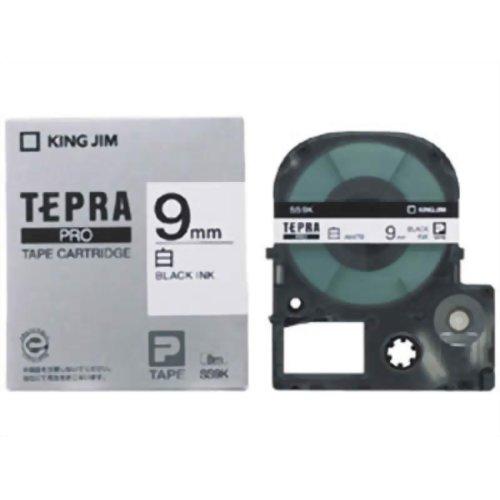 キングジム テプラPROテープ SS9K(白/黒文字 9mm幅)【ポイント10倍】