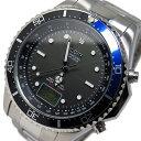 エルジン ELGIN ソーラー 電波 メンズ 腕時計 時計 FK1400S-BLP ブラック/ブルー【ポイント10倍】【楽ギフ_包装】