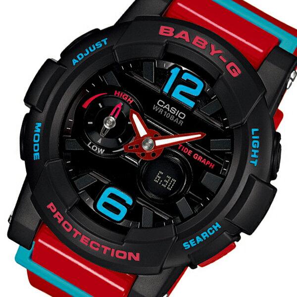 カシオ CASIO ベビーG BABY-G Gライド レディース 腕時計 時計 BGA-180-4B レッド【ポイント10倍】【_包装】 【ラッピング無料】