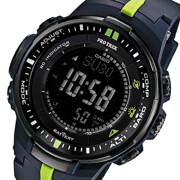 カシオ CASIO プロトレック 電波 タフソーラー メンズ 腕時計 時計 PRW-3000-2 ネイビー【ポイント10倍】【_包装】 【ラッピング無料】
