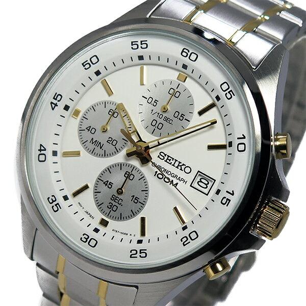 セイコー SEIKO クオーツ メンズ クロノ 腕時計 時計 SKS479P1 ホワイト【ポイント10倍】【_包装】 【ラッピング無料】