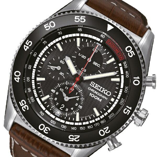 セイコー SEIKO クオーツ 高速クロノ メンズ 腕時計 時計 SNDG57P2 ブラウン【ポイント10倍】【_包装】 【ラッピング無料】