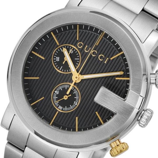 グッチ GUCCI Gクロノ クオーツ メンズ 腕時計 YA101362 ブラック【送料無料】【ポイント10倍】【_包装】 【送料無料】【ラッピング無料】