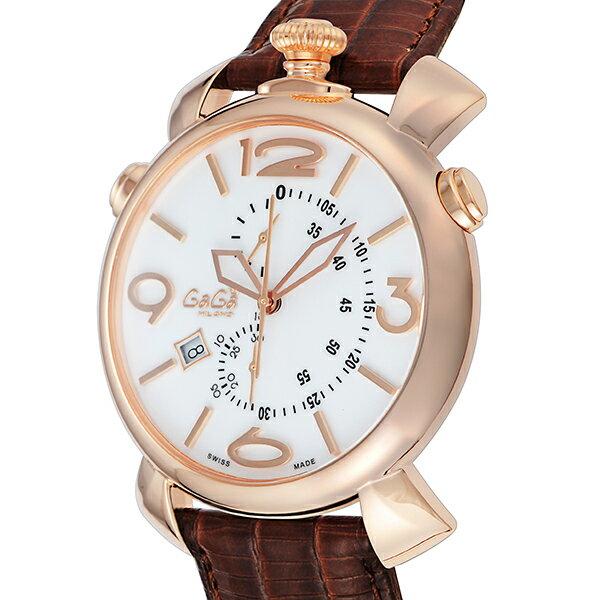 ガガ ミラノ GAGA MILANO クオーツ メンズ 腕時計 5098.01BW ホワイト【送料無料】【ポイント10倍】【_包装】 【送料無料】【ラッピング無料】