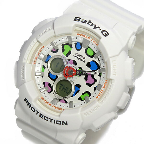 カシオ CASIO ベビーG レディース 腕時計 時計 BA-120LP-7A1 テレビ ホワイト どろあわわ【ポイント10倍 ボニック】【_包装】:リコメン堂【ラッピング無料】