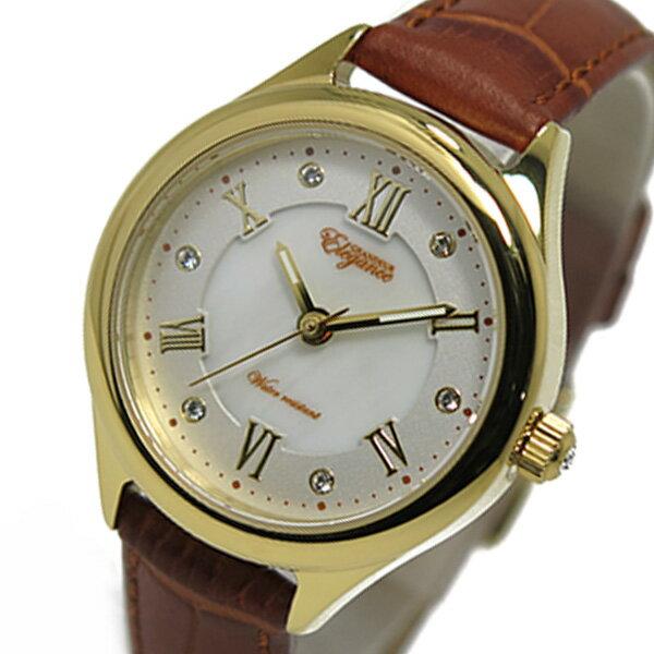 グランドール GRANDEUR クオーツ レディース 腕時計 時計 ESL060W2 ゴールド【ポイント10倍】【_包装】 【ラッピング無料】