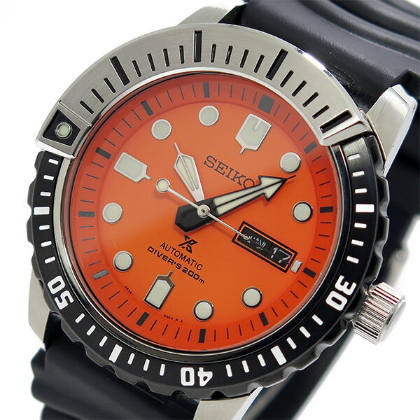 セイコー SEIKO プロスペックス PROSPEX メンズ 自動巻き 腕時計 SRP589K1 オレンジ【送料無料】【ポイント10倍】【_包装】 【送料無料】【ラッピング無料】