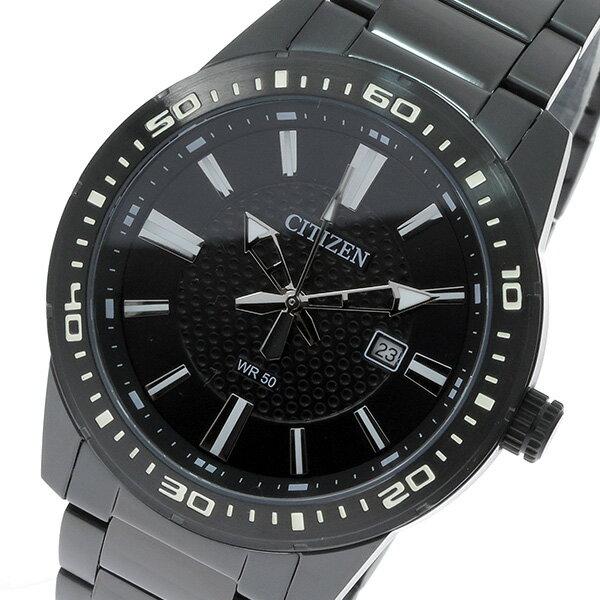 シチズン CITIZEN クオーツ メンズ 腕時計 時計 BI1065-59E ブラック【ポイント10倍】【_包装】 【ラッピング無料】