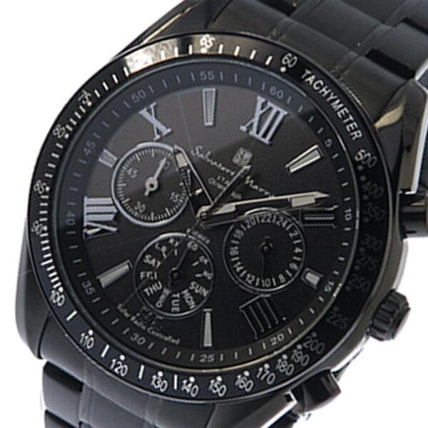 サルバトーレ マーラ ソーラー クロノ メンズ 腕時計 時計 SM15116-BKBKSV ブラック【ポイント10倍】【_包装】 【ラッピング無料】