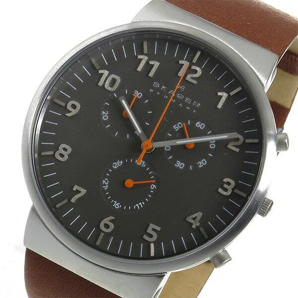 スカーゲン SKAGEN アンカー クロノ クオーツ メンズ 腕時計 時計 SKW6099 グレー【ポイント10倍】【_包装】 【ラッピング無料】