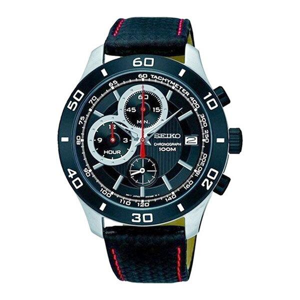 セイコー SEIKO クロノ クオーツ メンズ 腕時計 時計 SSB193P1 ブラック【ポイント10倍】【_包装】 【ラッピング無料】