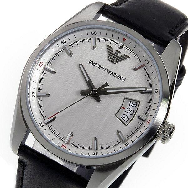 エンポリオ アルマーニ EMPORIO ARMANI クオーツ メンズ 腕時計 時計 AR6015 シルバー【ポイント10倍】【_包装】 【ラッピング無料】