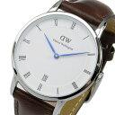 ダニエル ウェリントン ダッパー ブリストル/シルバー 34mm 腕時計 時計 1143DW【ポイント10倍】