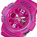 カシオ ベビーG アナデジ クオーツ レディース 腕時計 時計 BGA-210-4B2 ピンク