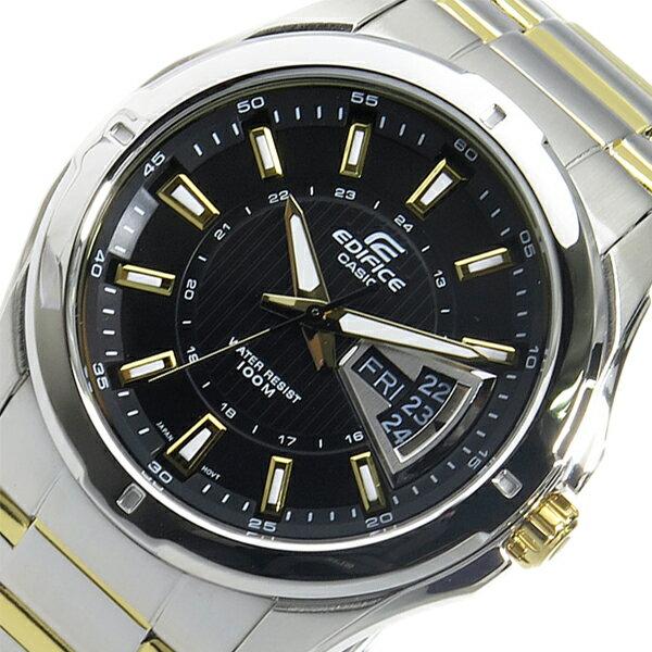 カシオ CASIO エディフィス EDIFICE クオーツ メンズ 腕時計 時計 EF-129SG-1A ブラック【ポイント10倍】【_包装】 【ラッピング無料】