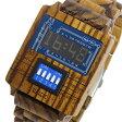 ディップクリック DIP CLICK mixer wood クオーツ 腕時計 時計 SW-WODS BL ブルー【楽ギフ_包装】【S1】