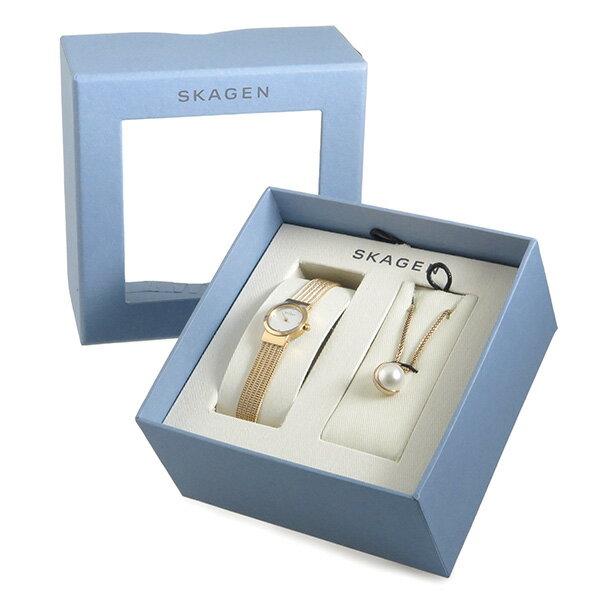 スカーゲン SKAGEN クオーツ レディース 腕時計 時計 ネックレス ギフトセット SKW1067【ポイント10倍】【_包装】 【ラッピング無料】