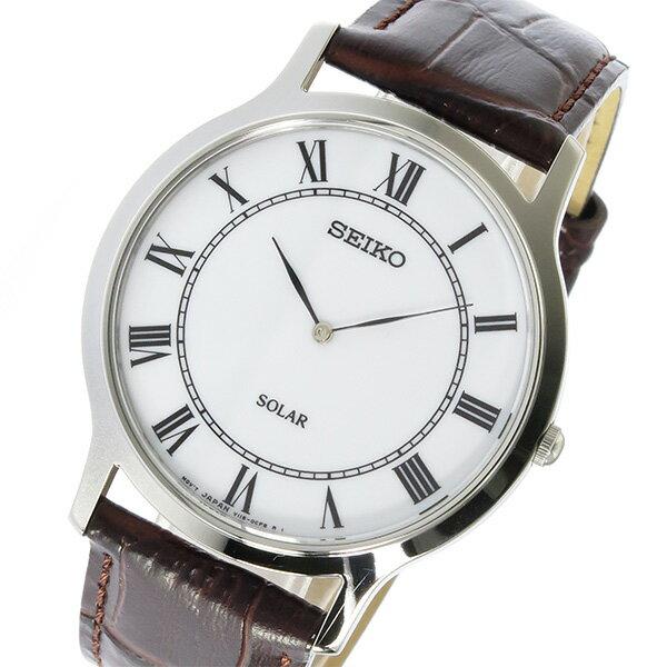 セイコー SEIKO ソーラー SOLAR メンズ 腕時計 時計 SUP869P1 ホワイト【ポイント10倍】【_包装】 【ラッピング無料】