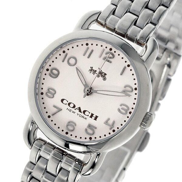 コーチ COACH デランシー DELANCEY クオーツ レディース 腕時計 時計 14502276 ホワイト/シルバー【ポイント10倍】【_包装】 【ラッピング無料】