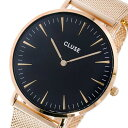 クルース CLUSE ラ・ボエーム メッシュベルト 38mm レディース 腕時計 時計 CL18113 ブラック/ローズゴールド