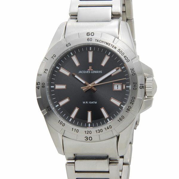 ジャックルマン リバプール LIVERPOOL デイト クオーツ メンズ 腕時計 時計 1-1903D グレーブラック【ポイント10倍】【_包装】 【ラッピング無料】