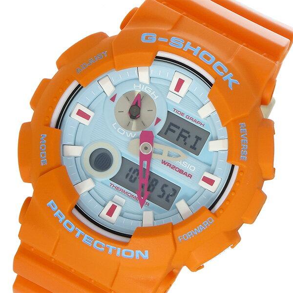 カシオ CASIO Gショック G-SHOCK Gライド In4mation コラボ メンズ 腕時計 時計 GAX-100X-4A ブルー/オレンジ【ポイント10倍】【_包装】 【ラッピング無料】