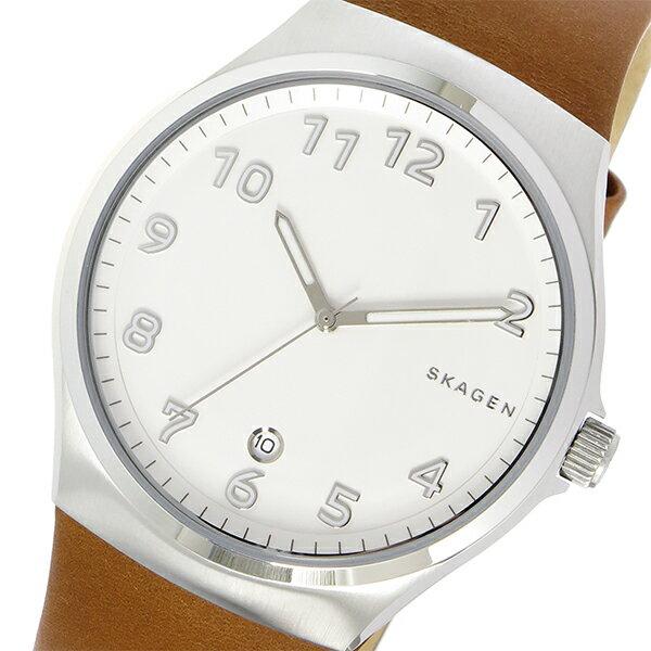 スカーゲン SKAGEN スンドビー SUNDBY クオーツ メンズ 腕時計 時計 SKW6269 ホワイト【ポイント10倍】【_包装】 【ラッピング無料】