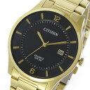 シチズン CITIZEN クオーツ メンズ 腕時計 時計 BD0043-83E ブラック/ゴールド【ポイント10倍】