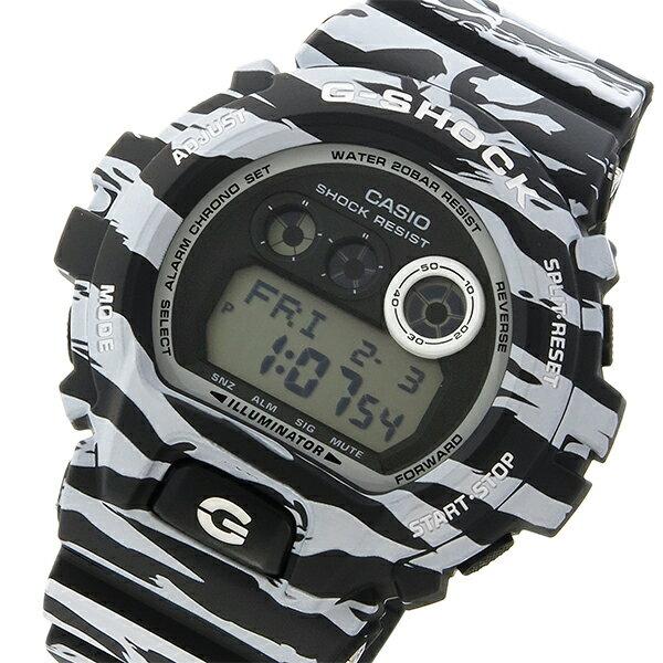 カシオ CASIO Gショック エアコン G-SHOCK 扇風機 バリスタ ホワイト&ブラック クオーツ メンズ 腕時計 時計 GD-X6900BW-1 タイガーカモ【ポイント10倍】【_包装】:リコメン堂【ラッピング無料】