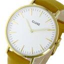 手錶 - クルース CLUSE ラ・ボエーム レザーベルト 38mm クオーツ レディース 腕時計 時計 CL18419 ホワイト【ポイント10倍】