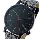 コモノ KOMONO Winston-Herringbone クオーツ メンズ 腕時計 時計 KOM-W2100 ブラック【ポイント10倍】【楽ギフ_包装】