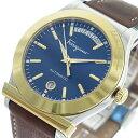 サルヴァトーレ フェラガモ Salvatore Ferragamo 自動巻き メンズ 腕時計 FFQ020016 ネイビー/ブラウン【送料無料】【ポイント10倍】