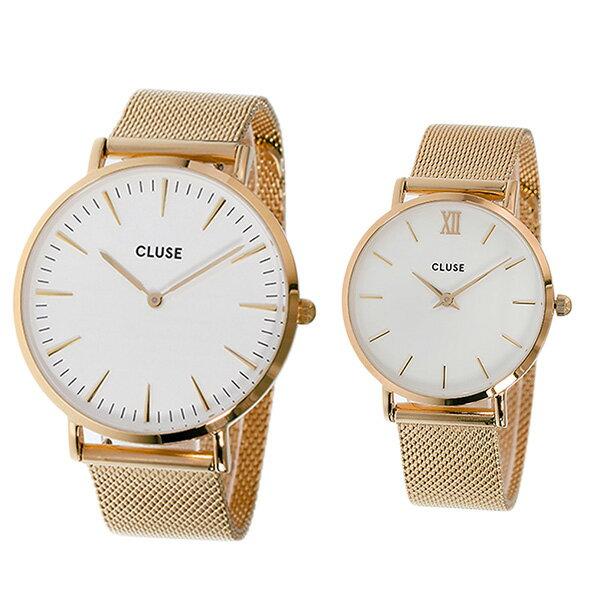 ペアウォッチ クルース CLUSE 腕時計 時計 レディース PAIR-CL18112-30013 クォーツ ホワイト ローズゴールド【ポイント10倍】【楽ギフ_包装】
