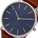 スカーゲン SKAGEN 腕時計 時計 メンズ SKW6446 ハーゲン HAGEN クォーツ ネイビー ブラウン【ポイント10倍】