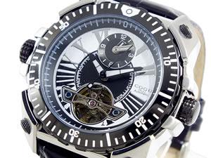 コグ COGU デュアルタイム 自動巻き 腕時計 メンズ C57-WH【_包装】【ポイント10倍】 【ポイント10倍】