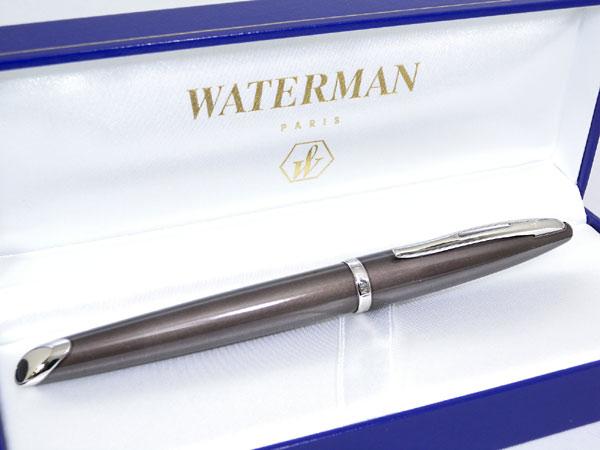 WATERMAN ウォーターマン カレン 万年筆 フロスティーブラウン F(細字)【_包装】H2【ポイント10倍】 【ポイント10倍】
