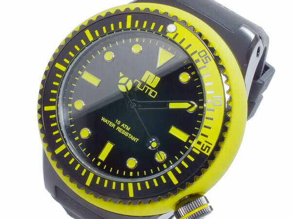 ヌーティッド NUTID SCUBA PRO クオーツ メンズ 腕時計 時計 N-1401M-B YE【_包装】【ポイント10倍】 【ポイント10倍】【ラッピング無料】